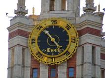 Барометр на здании МГУ имени Ломоносова
