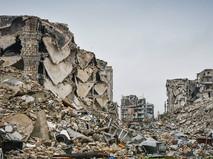 Последствия военных действий в Сирийском городе Алеппо