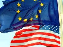 Флаги Евросоюза и США