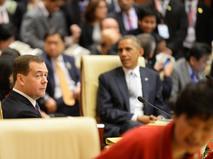 Глава правительства России Дмитрий Медведев и президент США Барак Обама