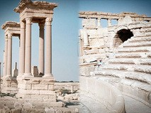 Древнеримский театр и тетрапилон в Пальмире, Сирия