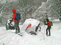 Сход лавины в центральной Италии