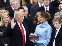 Дональд и Мелания Трамп на церемонии инаугурации