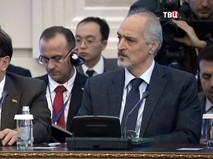 Башар Джаафари на переговорах по урегулированию конфликта в Сирии