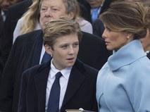 Бэррон и Меланья Трамп
