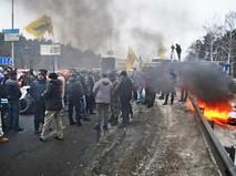 Акция протеста украинских водителей
