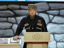 Рамзан Кадыров принимает присягу на Конституции