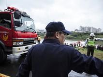 Пожарные и полиция Тайваня на месте происшествия