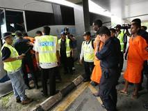 Полиция Малайзии на месте происшествия