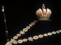 Большая императорская корона, скипетр и бриллиантовая цепь