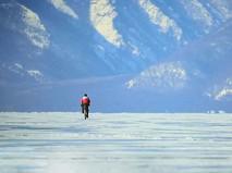 Гонка на озере Байкал