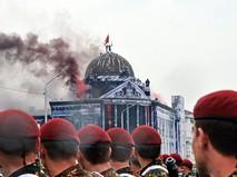 Театрализованное представление штурма рейхстага