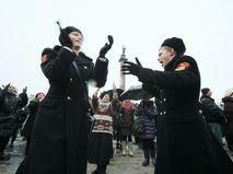 Гуляния в Санкт-Петербурге в честь Дня защитника Отечества