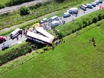 Последствия ДТП с участием автобусов в Аргентине