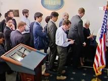 Журналисты на пресс-конференции в Белом доме США