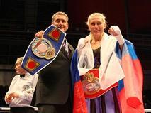 Наталья Рагозина завоевала титул чемпионки мира по версии WIBF в супертяжёлом весе. 2009 год