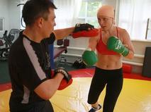 Константин Цзю и Наталья Рагозина во время совместной тренировки