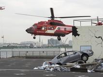 Спасательный вертолет в Японии