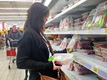 Мясной отдел в супермаркете