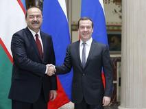 Председатель правительства РФ Дмитрий Медведев и премьер-министр Узбекистана Абдулла Арипов