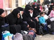 Беженцы из сирийского города Ракка