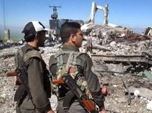 Последствия авиаудара ВВС Турции по позициям курдов на севере Сирии