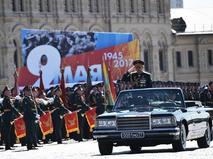 Министр обороны РФ Сергей Шойгу на генеральной репетиции Парада Победы