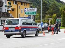 Полиция Австрии на месте происшествия