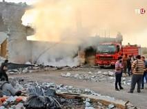 Последствия авиаудара по Сирии