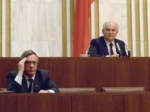 Вице-президент СССР Геннадий Янаев и президент СССР Михаил Горбачёв