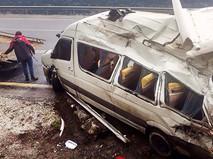 ДТП с участием микроавтобуса в Турции