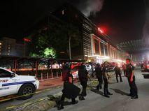 Полиция Филиппин на месте происшествия в Маниле
