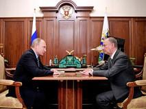 Президент России Владимир Путин и секретарь Совета Безопасности Николай Патрушев