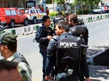 Полиция Ирана на месте происшествия