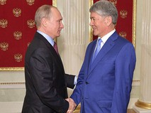 Владимир Путин и Алмазбек Атамбаев