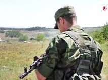 Бойцы народного ополчения в Донбассе