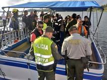 Поиски пропавших пассажиров туристического судна в Колумбии