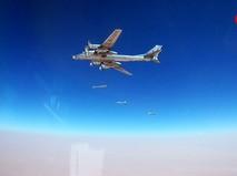 Стратегические ракетоносцы Ту-95МС наносят авиаудар по позициям террористов в Сирии