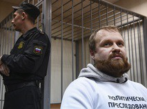 Националист Дмитрий Демушкин в здании суда
