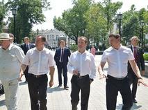 Рабочая поездка премьер-министра России Дмитрия Медведева в Краснодар
