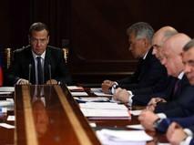 Дмитрий Медведев проводит совещание о расходах федерального бюджета на 2018 год