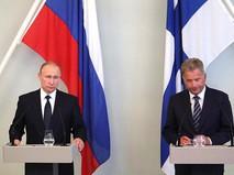 Владимир Путин и Саули Ниинистё