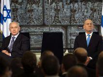 Беньямин Нетаньях и Эхуд Ольмерт (слева направо)