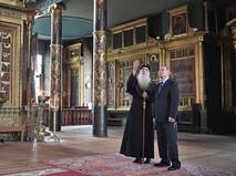Владимир Путин и Митрополит Московский и всея Руси Русской православной старообрядческой церкви Корнилий