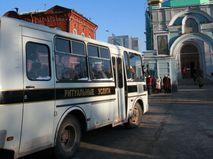 """Автобус с надписью """"Ритуальные услуги"""""""