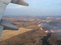 Степной пожар под Волгоградом