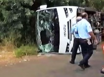 Последствия ДТП с туристическим автобусом в Турции
