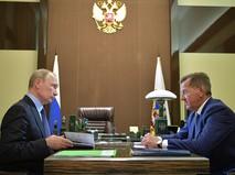 Владимир Путин на встречи с губернатором Астраханской области Александром Жилкиным