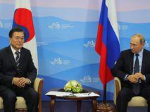 Мун Чжэ Ин и Владимир Путин