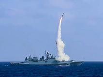 "Пуск крылатых ракет ""Калибр"" с фрегата ""Адмирал Эссен"""
